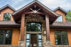 Kochmann Brothers Homes custom luxury lake home entrance
