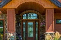 Kochmann Brothers Homes custom luxury lake home entrance