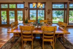 Kochmann Brothers Homes custom luxury lake home dining room overlooking lake