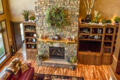 Kochmann Brothers Homes custom luxury lake home living room and fireplace