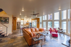 Kochmann Brothers Homes custom luxury lake home living room