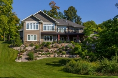 Kochmann Brothers Homes custom luxury lake home lakeside exterior
