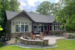 Kochmann Brothers Homes custom luxury lake home exterior patio
