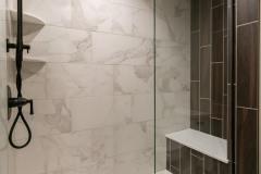 Kochmann Brothers Homes custom luxury lake tile shower