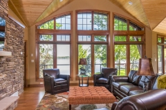 Kochmann Brothers Homes custom luxury living room at lake home