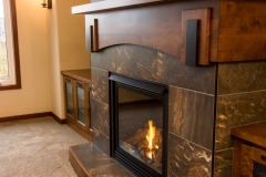 Kochmann Brothers Homes custom luxury living room close up of fireplace