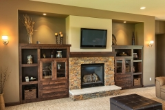 Kochmann Brothers Homes custom luxury living room with fireplace