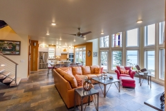 Kochmann Brothers Homes custom luxury living room in lake home