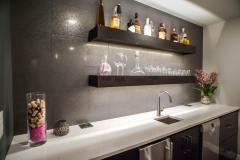 Kochmann Brothers Homes custom luxury bar area - photo by Area Women Magazine in Fargo
