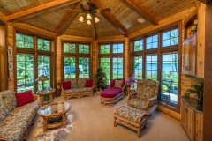 Kochmann Brothers Homes custom luxury lake cabin sitting room