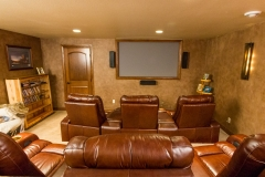 Kochmann Brothers Homes custom luxury home theater at lake home