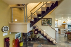 Kochmann Brothers Homes custom luxury stairs at lake home