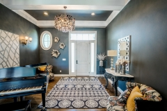 Kochmann Brothers Homes custom luxury entry with baby grand piano
